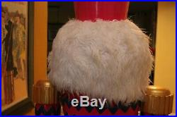 Life Size Nutcracker Butler Store Display 6 foot tall Heavy RARE HARD TO FIND