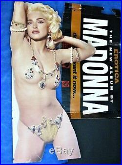 MADONNA USED EROTICA PROMO DISPLAY HUGE RECORD STORE LIFESIZE STAND 1992 Rare
