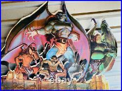 MEGA RARE 1995 Kenner Gargoyles Advertising Store Display Sign cartoon tv