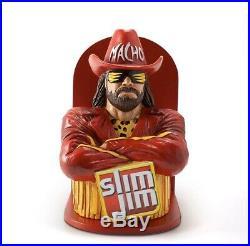 Macho Man Randy Savage Slim Jim Store Display Holder Stand WWF WCW WWE Rare