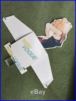 Madonna Vogue Rare 1990 Uk Official Warners In Store Die Cut 3d Counter Display