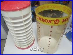 Matchbox Vintage 55 Cent Store Display case storage rare rotating counter top