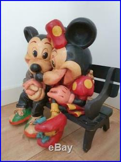 Mickey Minnie Mouse Disney set statue big fig figure figurine store display rare