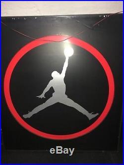 NIKE AIR JORDAN RARE Advertisement Sign Store Display Foot Locker Local Pick UP