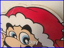 NINTENDO Rare Store Shop Display PLV Santa Mario Bros GAMEBOY Game & Watch 90s