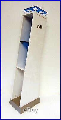 NINTENDO WII IN-STORE DISPLAY STAND For Game Console COMPLETE withRARE BLUE SHELF