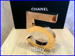 New Beautiful Rare Store Chanel Golden Display Factice 5 (acrylic)