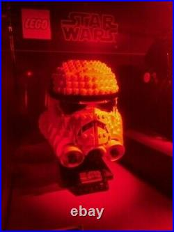New & RARE Collectible Lego STAR WARS Lighted Store Display Helmet Collection