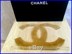 New Rare 2019 Store Chanel Display Factice CC Logo (acrylic)