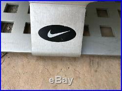 Nike Authentic Dealer Rare Vintage Advertising Metal Round Shoe Mirror Display