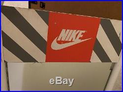 Nike Authentic Dealer Rare Vintage Late 1990s Metal Shoe Mirror Display 20x12