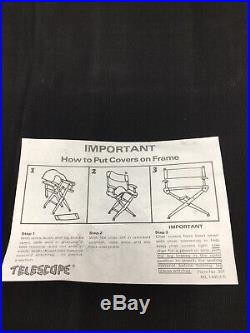 Nike Directors Chair Cover Store Display Just Do It Advertising Rare Vintage