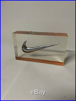 Nike Vintage Retro 90s Swoosh Display Resin Casting Rare Limited Retailers Only