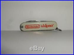 Nintendo 1990 Vid Pro Swiss Army Knife Employee Store Display Sign Promo RARE