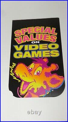 Nintendo 1990s Toys R Us TRU Valance Flag Store Display Sign Promo RARE