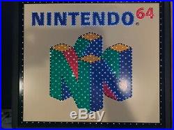 Nintendo 64 Fiber Optic Sign (From Babbages Very Rare)