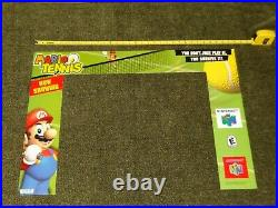 Nintendo 64 Mario Tennis Kiosk Marquee N64 Store Display Sign Promo RARE