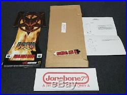 Nintendo 64 N64 DOOM 64 Store Display NEW in Box Counter Standee Sign Promo RARE