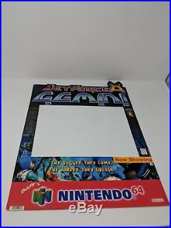 Nintendo 64 N64 Jet Force Gemini RARE Store Display Sign Promo Promotional VTG