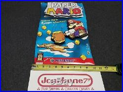 Nintendo 64 N64 PAPER MARIO Store Display Counter Standee Sign 3D Promo RARE