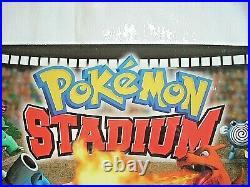 Nintendo 64 POKEMON STADIUM Rare Translite Store Sign 2000