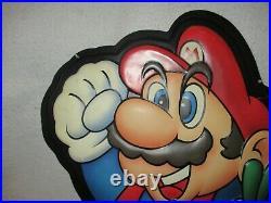 Nintendo Entertainment System Mario 2 1989 Vintage Store Sign 80's Rare Display
