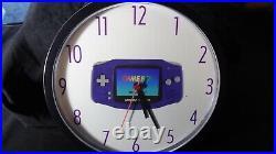 Nintendo Game Boy Advance Clock Vintage Store Display Promo Rare