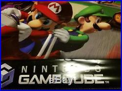 Nintendo GameCube Mario Kart Store Display Vinyl Banner Promo RARE 2 SIDED