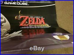 Nintendo GameCube Zelda Wind Waker Store Display Vinyl Banner Promo RARE 2 SIDED