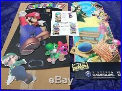 Nintendo MARIO PARTY 7 STANDEE GameCube Game Cube Store Display Promo ULTRA RARE