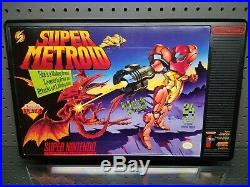 Nintendo NESM29M Service Mat store display sign with rare Super Metroid graphic