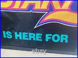 Nintendo Super StarFox Weekend Banner Star Fox SNES Store Display Sign VERY RARE