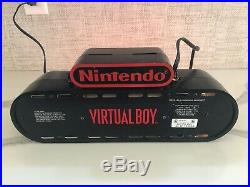 Nintendo Virtual Boy 3D Store Display Sign Working, great condition Rare
