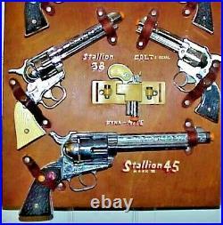 Nos. Nichols Stallion Cap Gun, Toy Store Display Board, With 7 Unfired Guns Rare