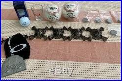 OAKLEY DISPLAY MISC, Ornament, Skulls, baseball, golf, shotglass RARE