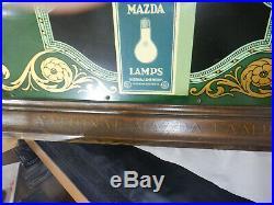 OLD Mazda light bulb display trade sign with original bulbs very rare