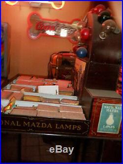 OLD Mazda light bulb display trade sign with vintage bulbs very rare