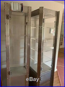 Oakley Aluminum Display Case X-Metal Double Wide Rare With Shelves & Doors Lights