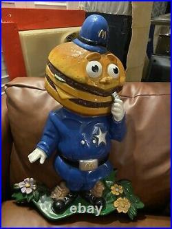 Officer Big Mac McDonalds Hamburger Vintage Store Statue Display Rare