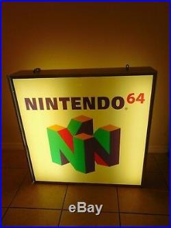 Official Original Huge Nintendo 64 Logo Light Up Store Sign Display N64 Rare