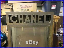 Original 1930'S CHANEL Brass Showcase CoCo Chanel SUPER RARE DISPLAY PIECE
