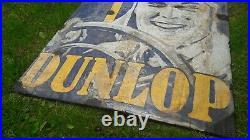 Original Dunlop Stock Enamel Porcelain Advertising Sign Emaille Plaque 1937 RARE