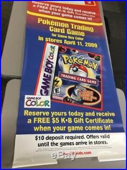 POKEMON STADIUM N64 VINYL BANNER Sign Store Display Nintendo 64 Promo RARE D2