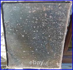 Plaque émaillée ancienne boule d' or RARE et BELLE