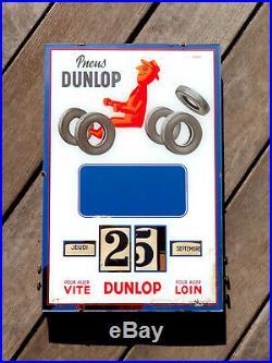 Pneus Dunlop Savignac-rare Calendrier Perpetuel Gerrer. 1954