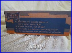 RARE 1930s-40s CAR-DOOR CARRIER STORE COUNTER DISPLAY / SIGN NOS FULL BOX, MINT