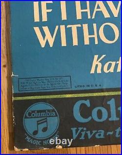 RARE 1931 Halloween Counter Display Advertising Card Columbia Records Kate Smith