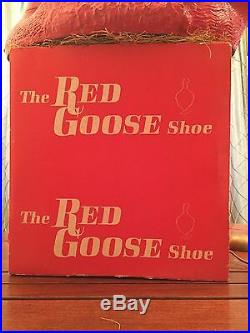 RARE 1960s Red Goose Shoes Store Display