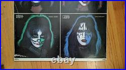 RARE 1978 KISS Solo Albums PROMO STORE DISPLAY GENE SIMMONS ACE FREHLEY AUCOIN