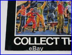 RARE 1985 Vintage Hasbro GI JOE 13.5 x 17.5 COLLECT THEM ALL Store Display Sign